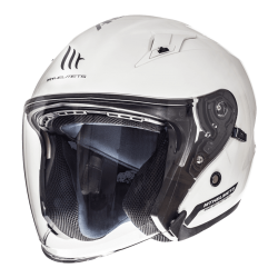 CASCO JET SOLID BRILLO BLANCO PERLA MT HELMET