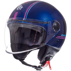CASCO JET ENTIRE J4 BRILLO ROSA MT HELMET