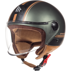 CASCO JET ENTIRE I2 MARRON MATE MT HELMET