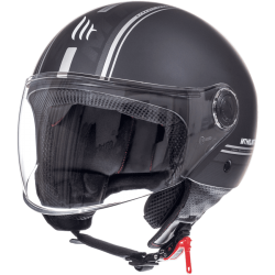 CASCO JET ENTIRE J2 NEGRO MATE MT HELMET