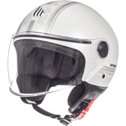 CASCO JET ENTIRE E6 BRILLO BLANCO PERLA MT HELMET