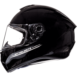 CASCO TARGO SOLID A1 NEGRO BRILLO MT HELMET