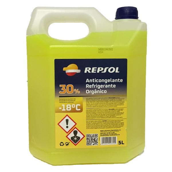 Repsol Anticongelante-Refrigerante 30% amarillo 5Ltrs