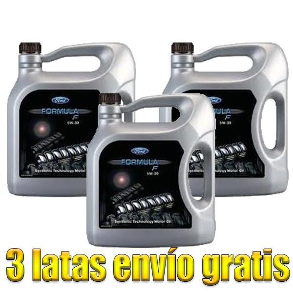 Aceite coche 5w30 Ford Formula F 5Ltrs -LOTE 3 LATAS-