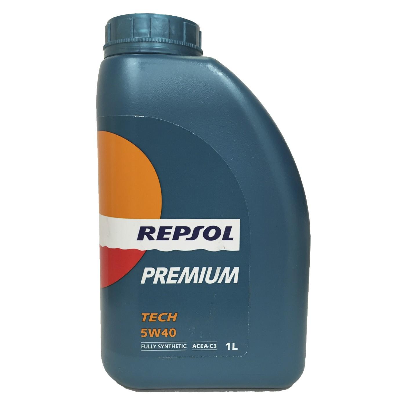 Aceite coche 5w40 Repsol Premium TECH C3 1Ltr