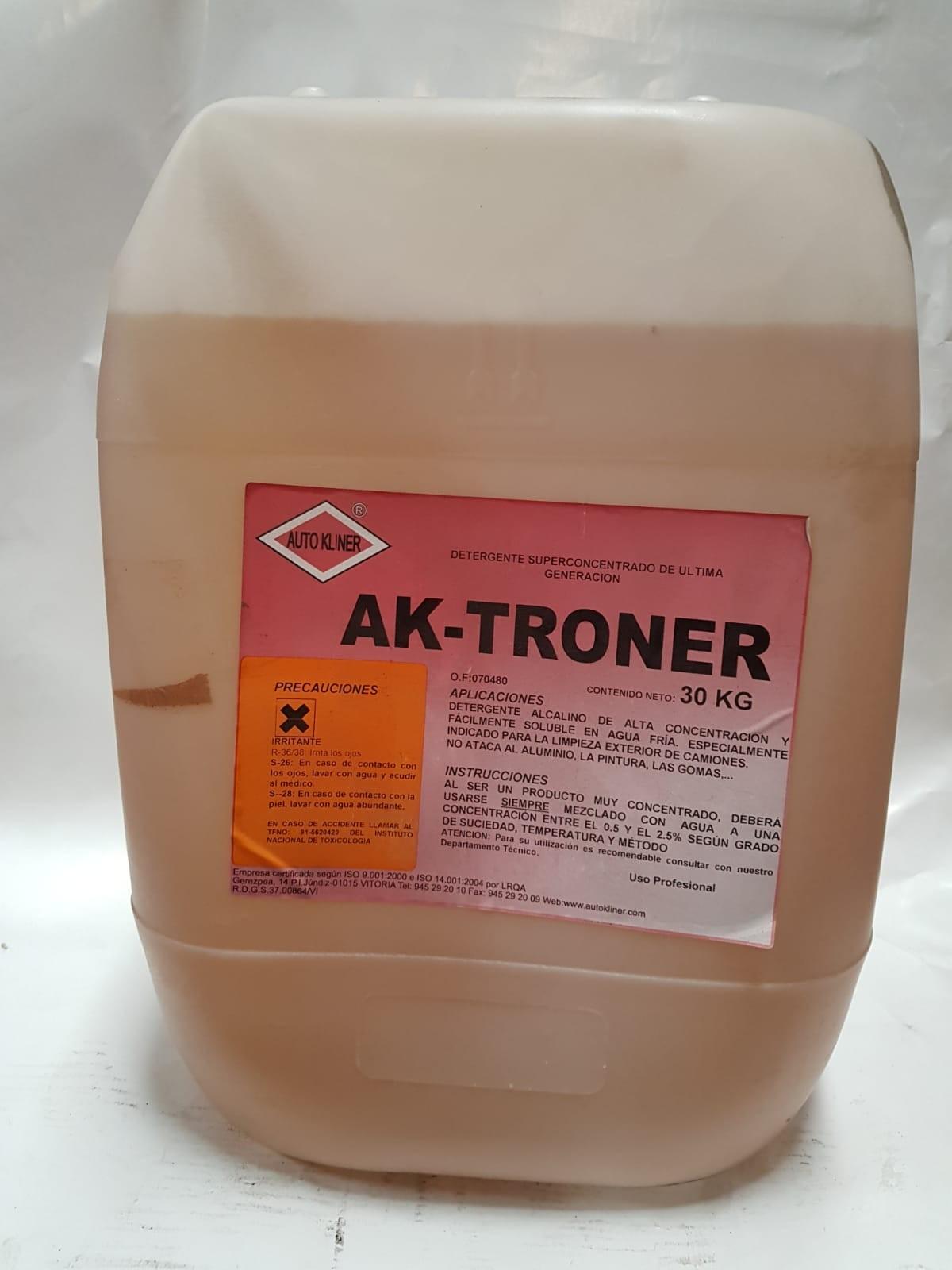 Detergente superconcentrado para limpieza de camiones AK-TRONER