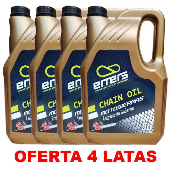 Aceite Motosierra Emers 5L PACK 4 LATAS