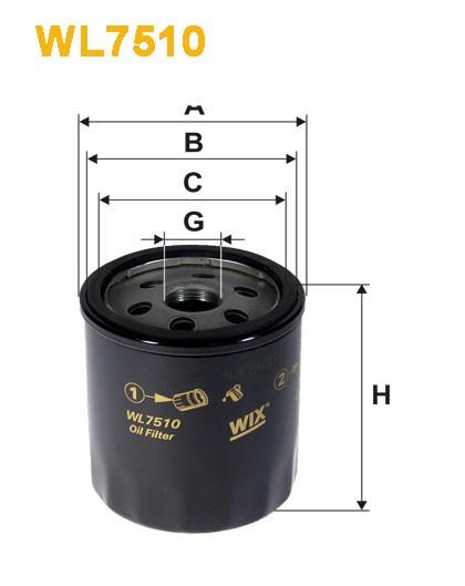 Filtro aceite Wix WL7510