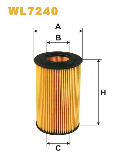 Filtro aceite Wix WL7240