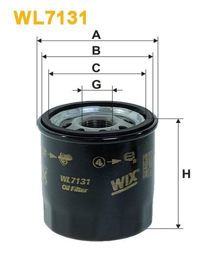 Filtro aceite Wix WL7131