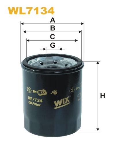 Filtro aceite Wix WL7134