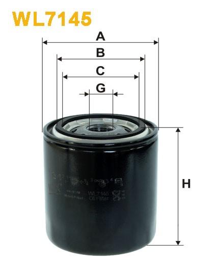Filtro aceite Wix WL7145