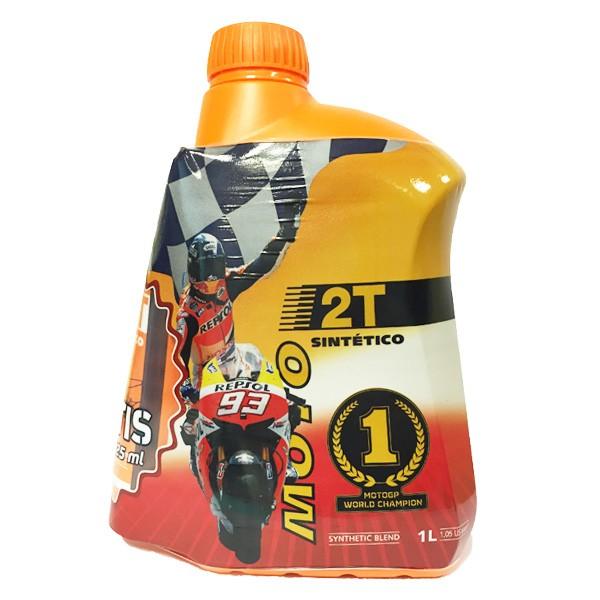 Aceite Repsol Moto Sintetico 2T 1Ltr + 125ml GRATIS! -OUTLET-
