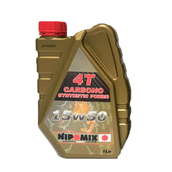 Aceite Nipomix Moto 15w50 4T Carbono 4T 1Ltr