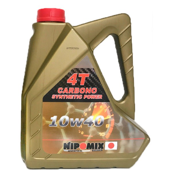 Aceite Nipomix 4T 10w40 CARBONO 5 Ltr