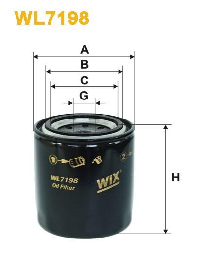 Filtro aceite Wix WL7198