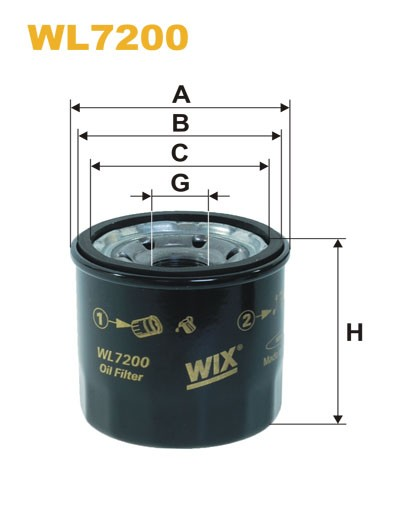Filtro aceite Wix WL7200