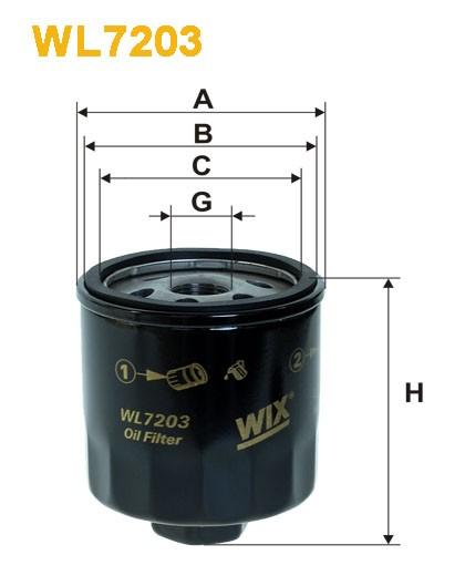 Filtro aceite Wix WL7203