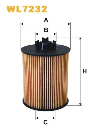 Filtro aceite Wix WL7232