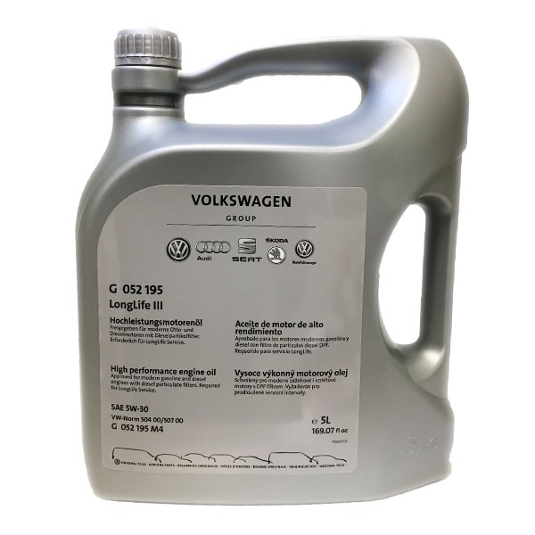 Aceite 5w30 Volkswagen Group 504 507 LL 5L