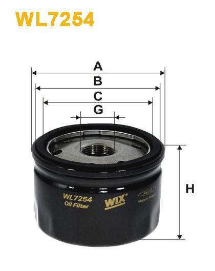 Filtro aceite Wix WL7254