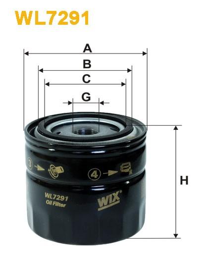 Filtro aceite Wix WL7291