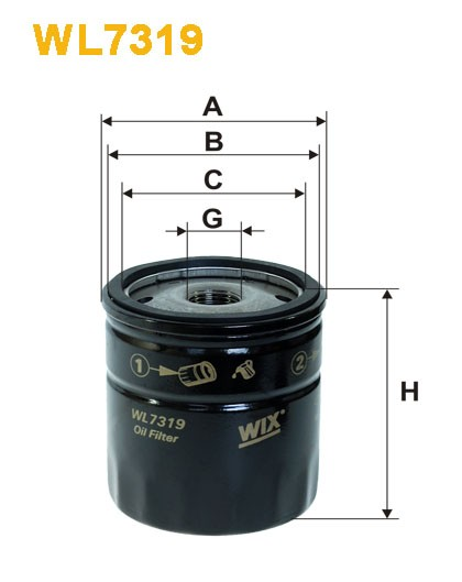 Filtro aceite Wix WL7319