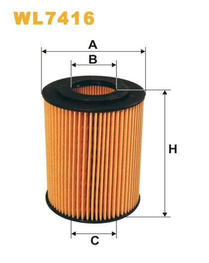 Filtro aceite Wix WL7416