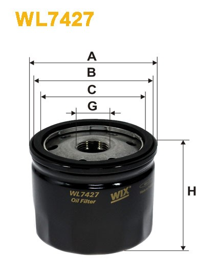 Filtro aceite Wix WL7427