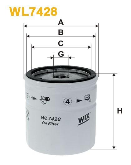 Filtro aceite Wix WL7428