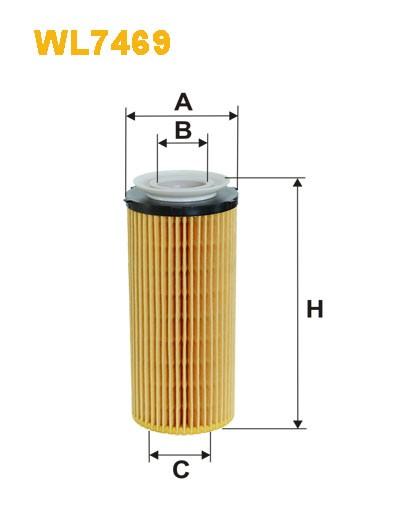 Filtro aceite Wix WL7469