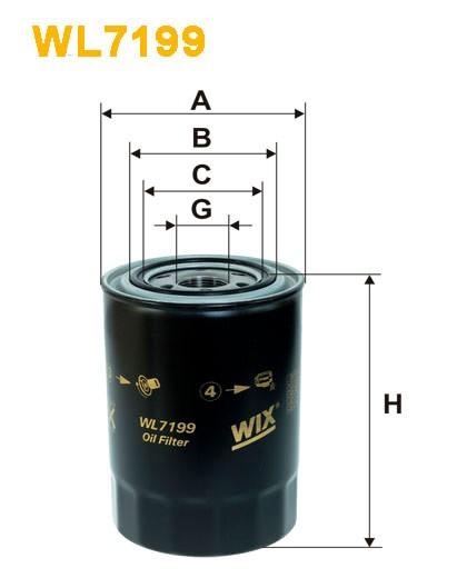Filtro aceite Wix WL7199