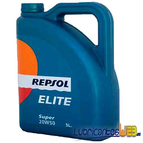 Aceite coche 20w50 Repsol ELITE Super 5Ltrs